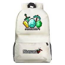 Load image into Gallery viewer, Game Minecraft Backpack Schoolbag Unisex Cosplay Prop