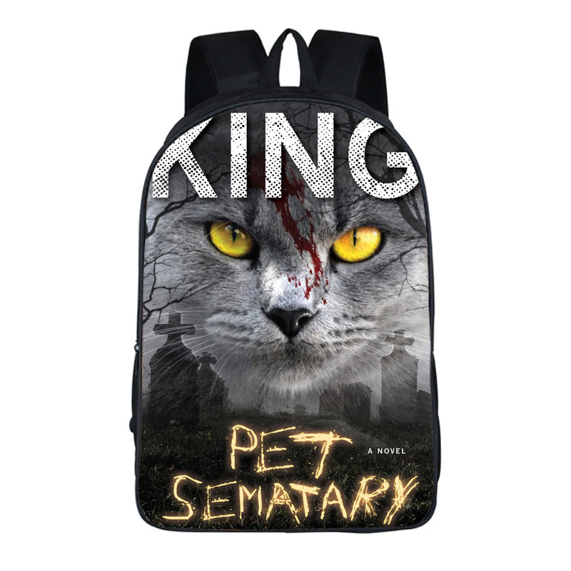 Horror Movie Pet Sematary Stephen King Clown Backpack School Sports Bag
