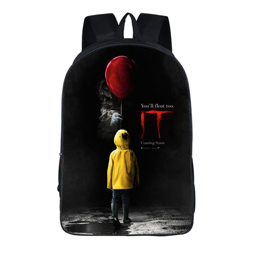 Horror Movie Pennywise IT Clown Backpack School Sports Bag