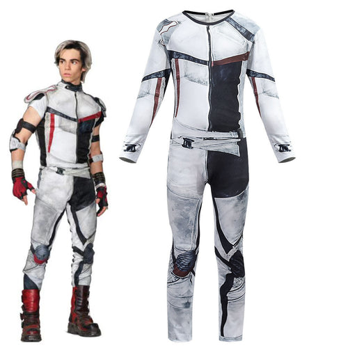 Descendants 3 Carlos Jumpsuit Bodysuit Halloween Cosplay Costume For Kids Adults