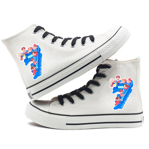 BTS Map of the soul 7 #2 Fashion Shoes High Top Canvas Sneakers For Kids Adults