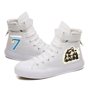 BTS Map of the soul 7 #5 High Tops Casual Canvas Shoes Unisex Sneakers