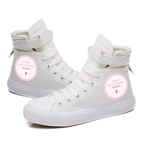 BTS Map of the soul 7 #7 High Tops Casual Canvas Shoes Unisex Sneakers