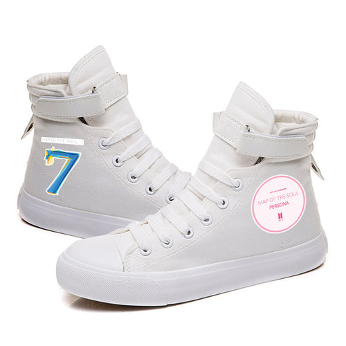 BTS Map of the soul 7 #8 High Tops Casual Canvas Shoes Unisex Sneakers
