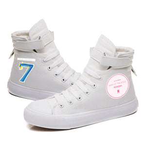 BTS Map of the soul 7 #9 High Tops Casual Canvas Shoes Unisex Sneakers