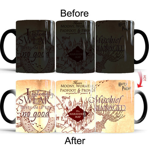 Harry Potter The Marauder's Map #1 Coffee Tea Cup Changing Color Mug Christmas Gift