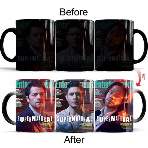 Supernatural Demon Hunter Winchester Bros Sam Dean #1 Coffee Tea Cup Changing Color Mug Christmas Gift