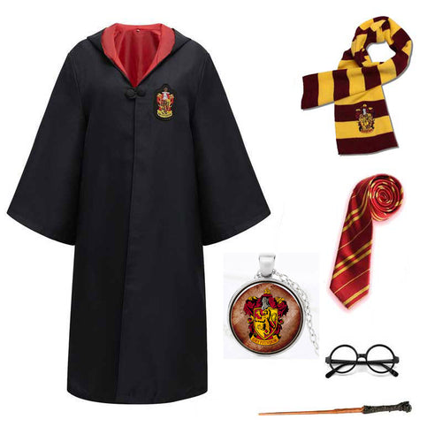 Harry Potter #16 Cosplay  Robe Cloak Clothes Gryffindor Quidditch Costume Magic School Party Uniform