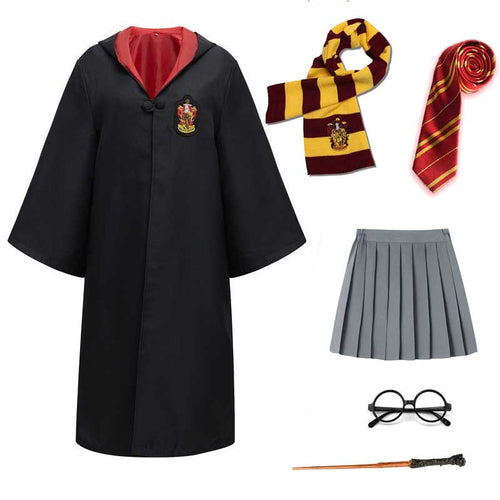 Harry Potter #9 Cosplay  Robe Cloak Clothes Gryffindor Costume Magic School Party Uniform
