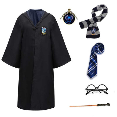 Harry Potter #6 Cosplay  Robe Cloak Clothes Ravenclaw Quidditch Costume Magic School Party Uniform