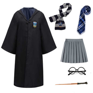 Harry Potter #12 Cosplay  Robe Cloak Clothes Ravenclaw Quidditch Costume Magic School Party Uniform