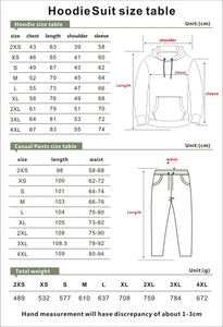 LGBT #4 Loose Hooded trouser Suits Sports Casual Fleece Pants Sets