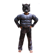 Load image into Gallery viewer, Halloween Kids Wolf Costumes  Suits Children School Performance Clothing Props Muscle Werewolf Cosplay Clothes Kids Gifts