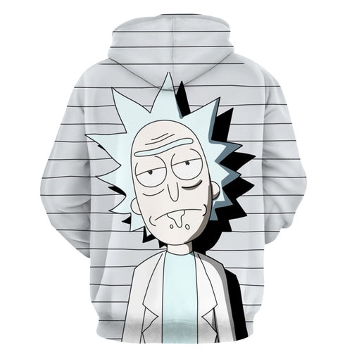 Rick and Morty Hoodie Pull-over Sweartshirts Suits Casual Coat Outwear