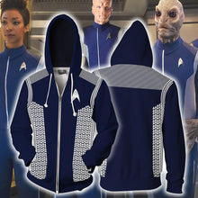 Load image into Gallery viewer, Star Trek Discovery  Hoodie Sweatshirts Cosplay Costume Pull-over Fleece Sweater Zipper Jackets