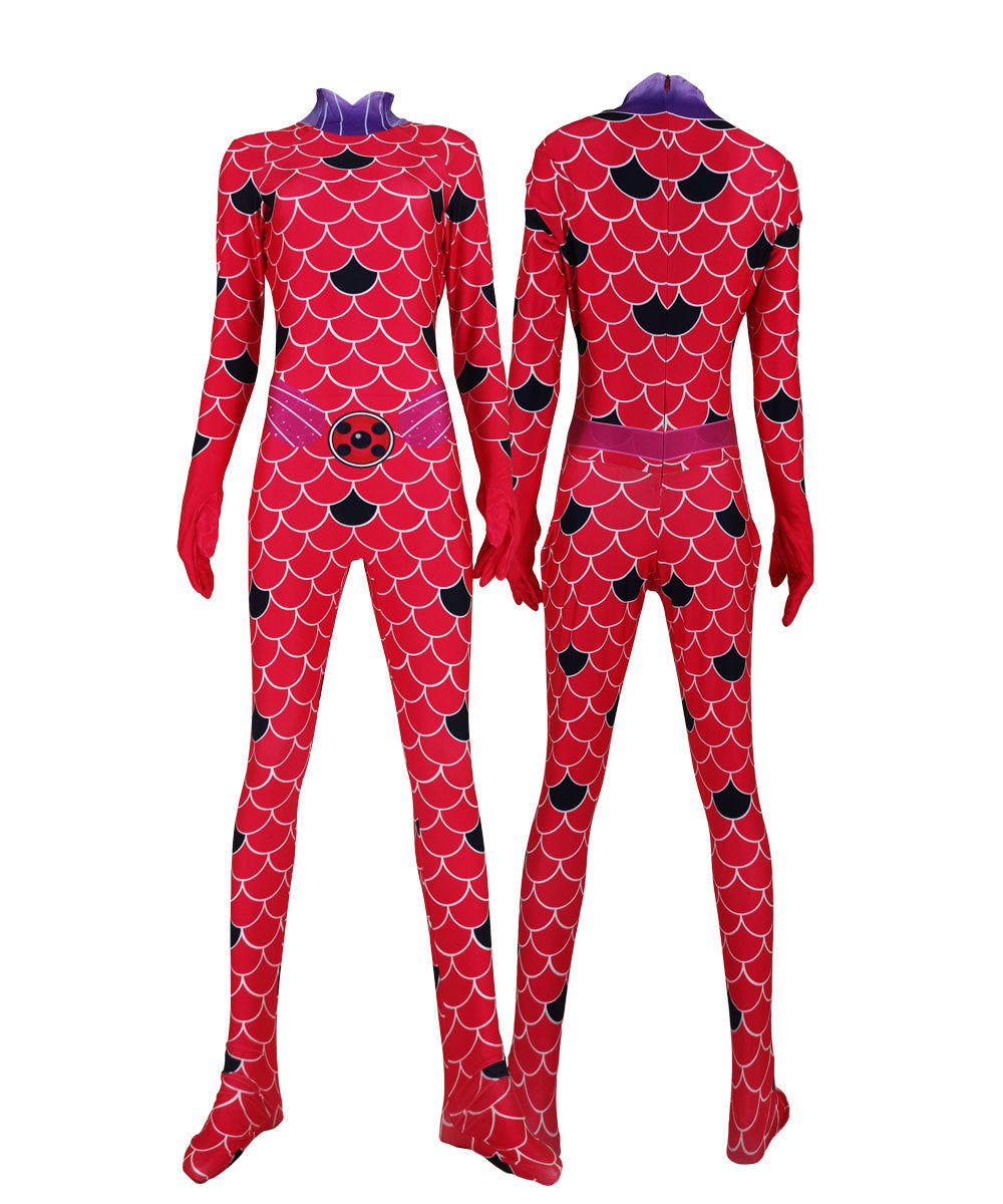 Miraculous Jumpsuit Lady bug Marinette Dupain-Cheng Cosplay Costume Amazing Ladybug Bodysuit