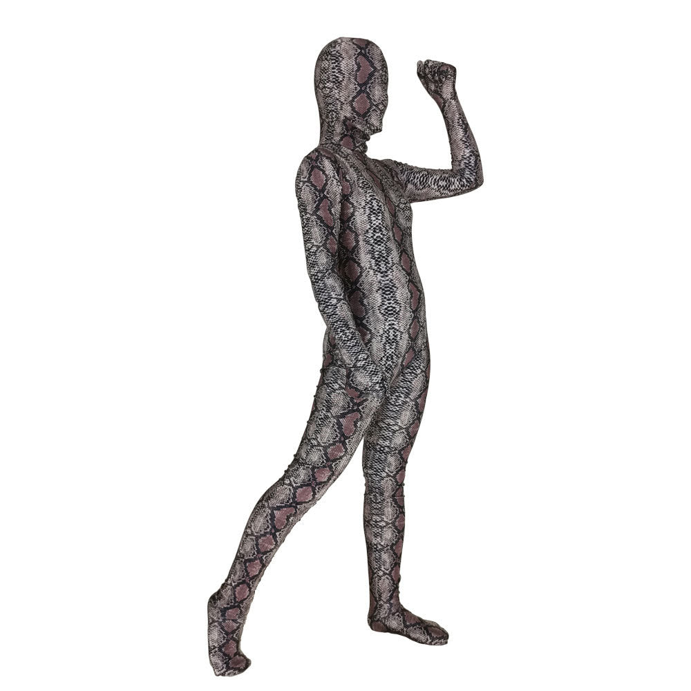 Snakeskin Jumpsuit Halloween Horrir Cosplay Costume Horrific Scary Bodysuit