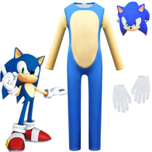 Load image into Gallery viewer, Sonic the Hedgehog #2 Jumpsuit Halloween Cosplay Costume Bodysuit For Kids