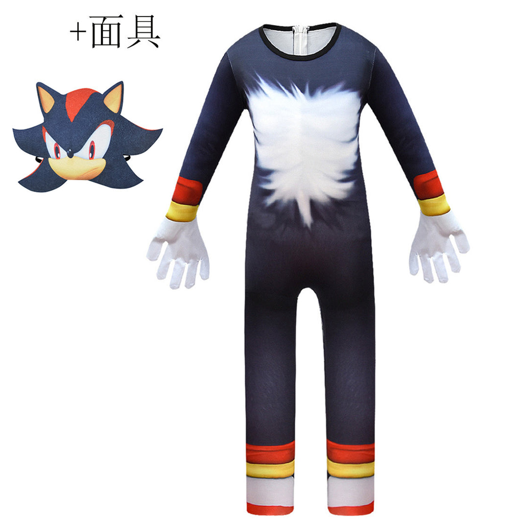 Sonic the Hedgehog #3 Jumpsuit Halloween Cosplay Costume Bodysuit For Kids