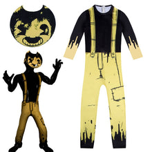 Load image into Gallery viewer, Bendy and the Ink Machine New  Jumpsuit Cosplay Costume Halloween Zentai Bodysuit For Kids