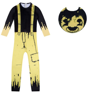 Bendy and the Ink Machine New  Jumpsuit Cosplay Costume Halloween Zentai Bodysuit For Kids