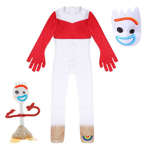 Toy Story Forky New Jumpsuits Uniform Halloween Cosplay Costume Bodysuit For Kids