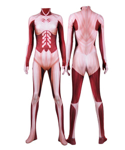 Attack on Titan Jumpsuits Halloween Cosplay Costume Zentai Bodysuits