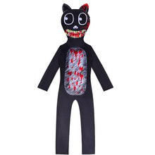 Load image into Gallery viewer, Cartoon Cat Jumpsuits Uniform Halloween Cosplay Costume Bodysuit For Kids
