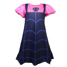Load image into Gallery viewer, Girl Vampire Jumpsuits Chrismas Princess Dress Halloween Cosplay Costume Bodysuit For Kids