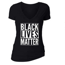 Load image into Gallery viewer, BLACK LIVES MATTER Fashion Gray Sexy T Shirt Women Summer New Casual Slim T-shirt Female Streetwear Tee