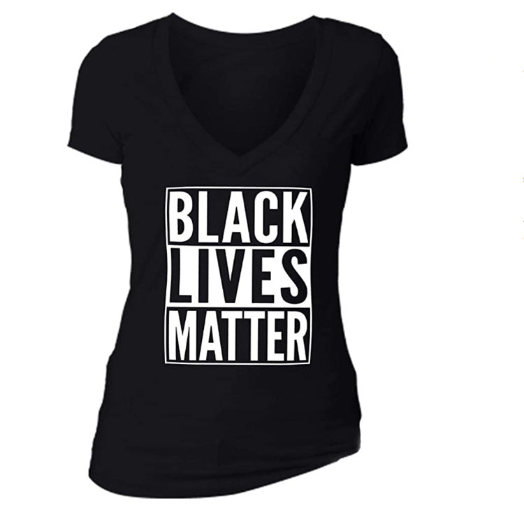 BLACK LIVES MATTER Fashion Gray Sexy T Shirt Women Summer New Casual Slim T-shirt Female Streetwear Tee