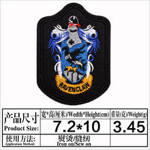 Load image into Gallery viewer, Harry Potter Hogwarts Gryffindor Hufflepuff Ravenclaw Slytherin School Badge Cloth Sticker Patches Emblem Decoration Accessory Gift