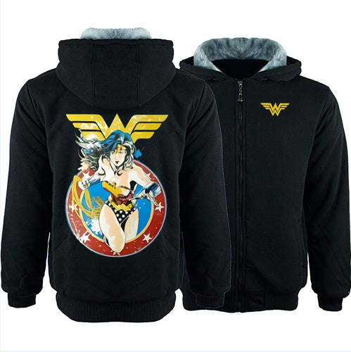 DC Wonder Woman Winter Hoodie Sweatshirt Sweater Unisex Hoody Coat