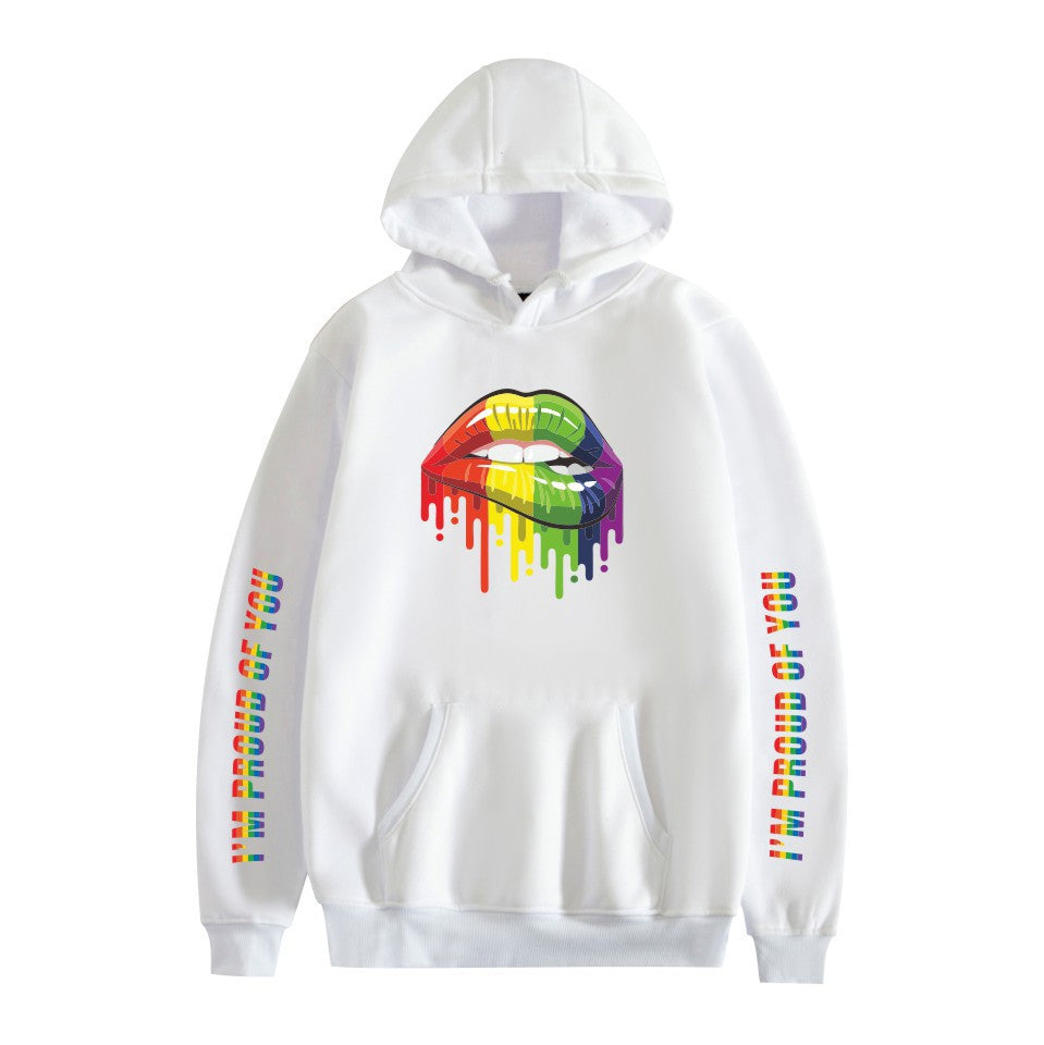 LGBT #3 Adults Hooded Hoodie  Unisex  Fleece-lined Sweatshirt Casual Pull-over Outwear