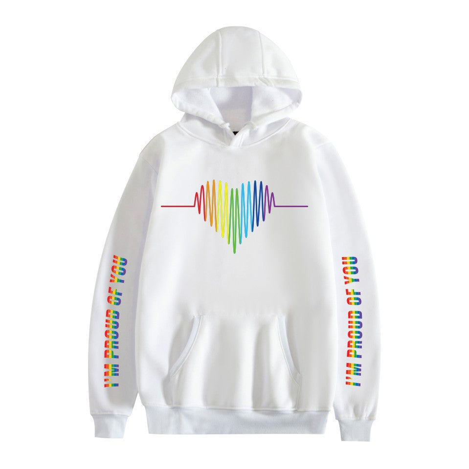 LGBT #2 Adults Hooded Hoodie  Unisex  Fleece-lined Sweatshirt Casual Pull-over Outwear
