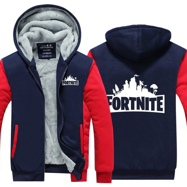 Game Fortnite Cosplay Hoodie Wool Fleece Coat For Adults