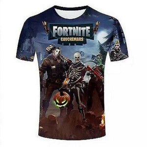 Fortnite New Short Sleeve T-shirt 3D Printed Round Neck Shirts Summer Fashion