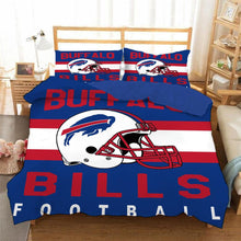 Load image into Gallery viewer, Bills NFL #17 Duvet Cover Quilt Cover Pillowcase Bedding Set Bed Linen Home Bedroom Decor