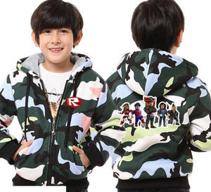 Fortnite Fashion Casual Hooded Coats Teens and Children's School Kids Jackets
