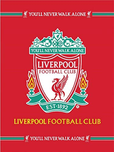 Liverpool FC Football Club Plush Raschel Throw Blanket with Sherpa Lining