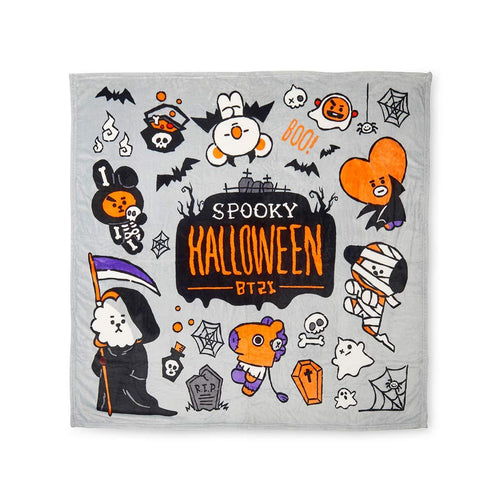 BTS BT21 Bangtan Boys Halloween Double-Sided Print Nap Blanket