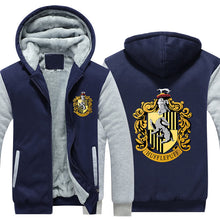Load image into Gallery viewer, Harry Potter Hufflepuff Pull over Hoodie Sweatshirt Autumn Winter Unisex Sweater Zipper Jacket Coat