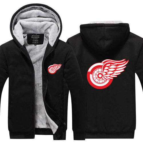 NHL Detroit Red Wings Pull over Hoodie Sweatshirt Autumn Winter Unisex Sweater Zipper Jacket Warm Coat