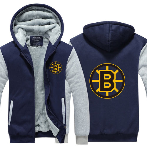 NHL Boston Bruins Pull over Hoodie Sweatshirt Autumn Winter Unisex Sweater Zipper Jacket Warm Coat