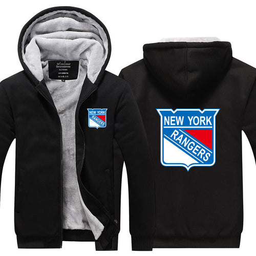 NHL New York Rangers Pull over Hoodie Sweatshirt Autumn Winter Unisex Sweater Zipper Jacket Warm Coat