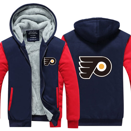 NHL Philadelphia Flyers Pull over Hoodie Sweatshirt Autumn Winter Unisex Sweater Zipper Jacket Warm Coat