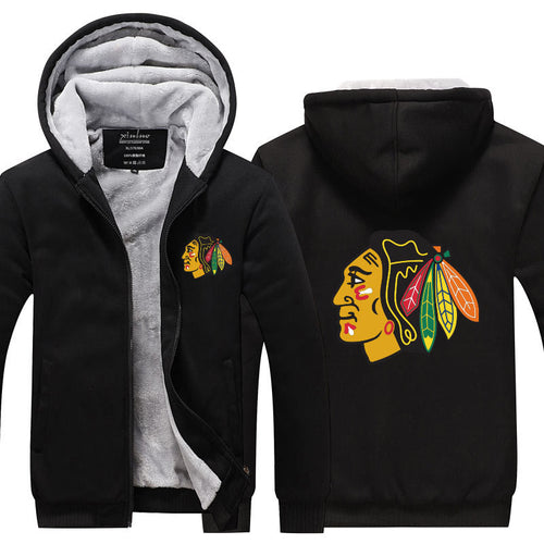 NHL Chicago Blackhawks Pull over Hoodie Sweatshirt Autumn Winter Unisex Sweater Zipper Jacket Warm Coat