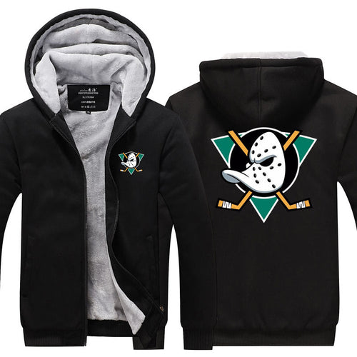 NHL Anaheim Ducks Pull over Hoodie Sweatshirt Autumn Winter Unisex Sweater Zipper Jacket Warm Coat