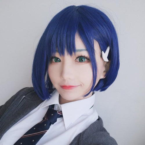 DARLING in the FRANXX Ichigo 015 Wig Short Blue Hair Women Sweet Hair