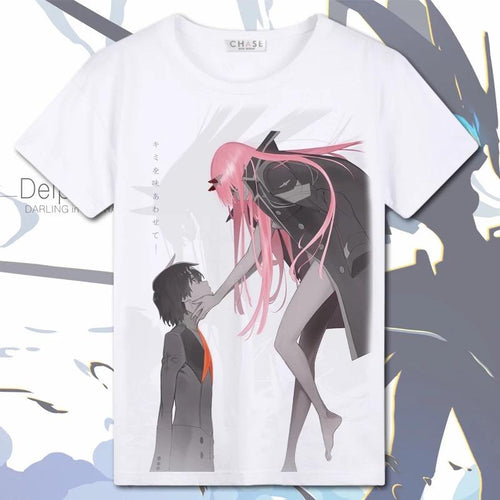Darling in the Franxx Zero Two 02 White Tee shirt Cosplay Costume